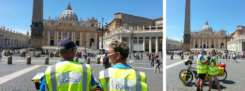 Elly en Marien Legue aangekomen in Rome